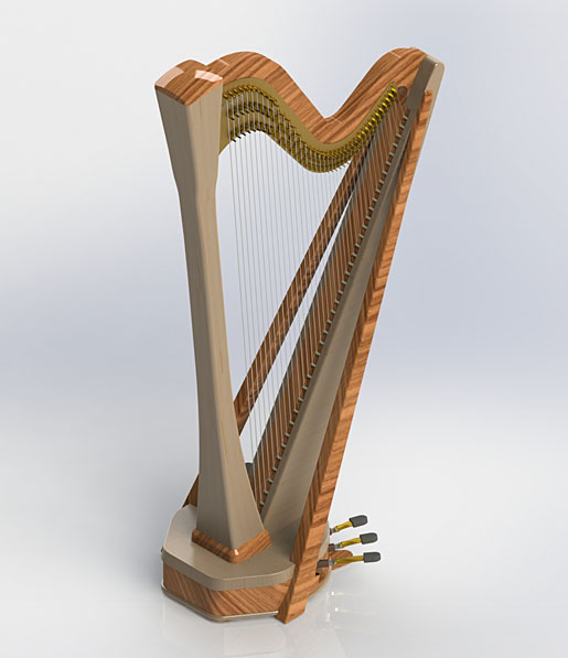 kortier electric pedal harp. Black Bedroom Furniture Sets. Home Design Ideas