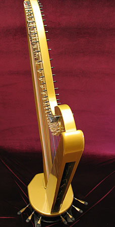 Solid body electric pedal harp