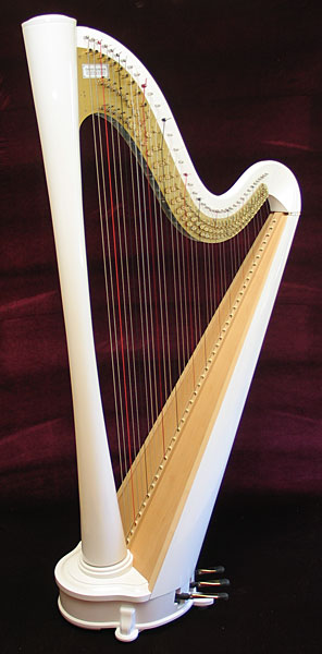 kortier resonance acoustic electric pedal harp. Black Bedroom Furniture Sets. Home Design Ideas